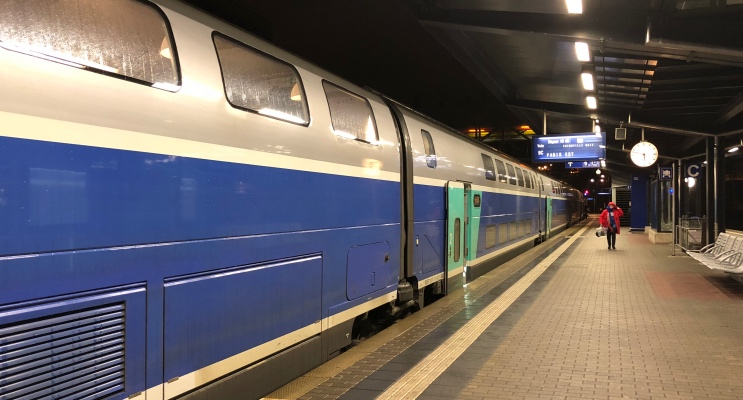 Trem de Luxemburgo a Paris