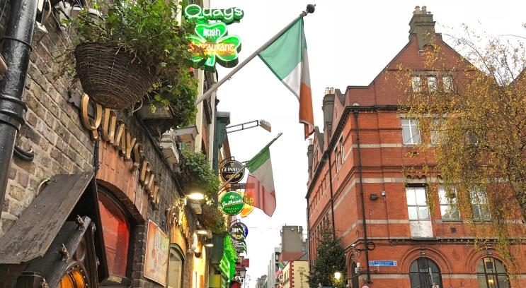 Rua em Dublin
