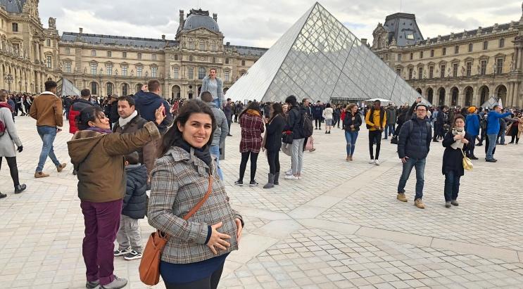 Viagem internacional grávida em Paris